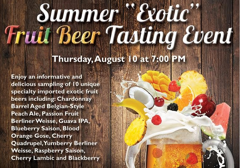 exotic fruit beer tasting regina