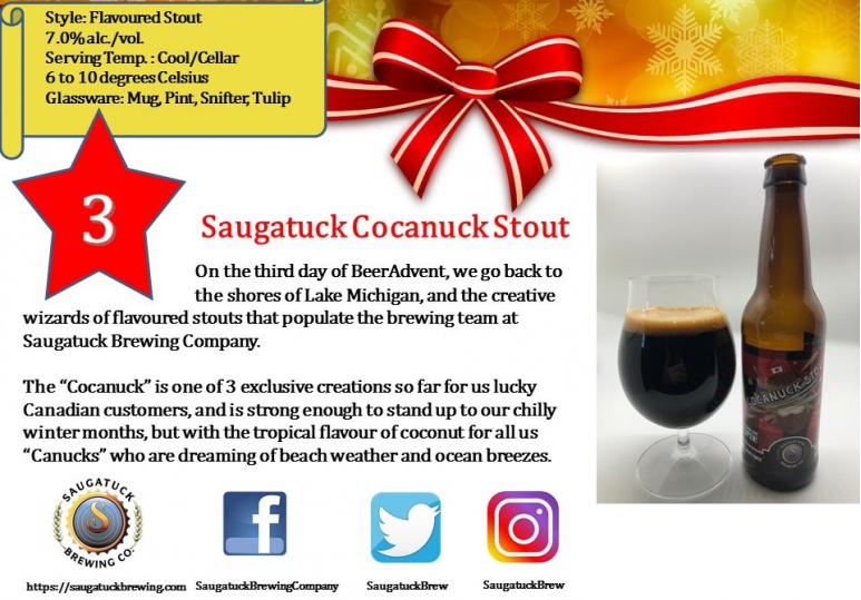 Saugatuck Cocanuck Stout
