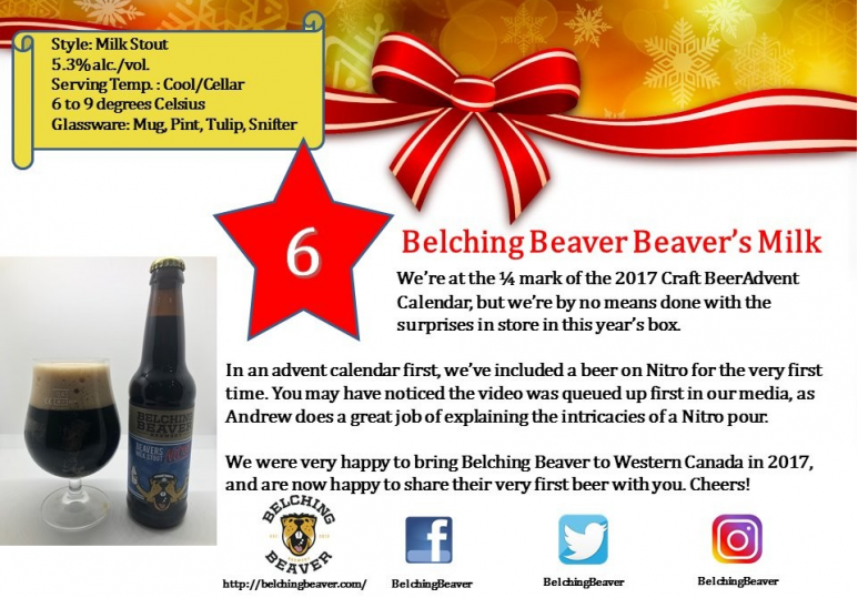 Belching Beaver Beavers Milk Stout Nitro