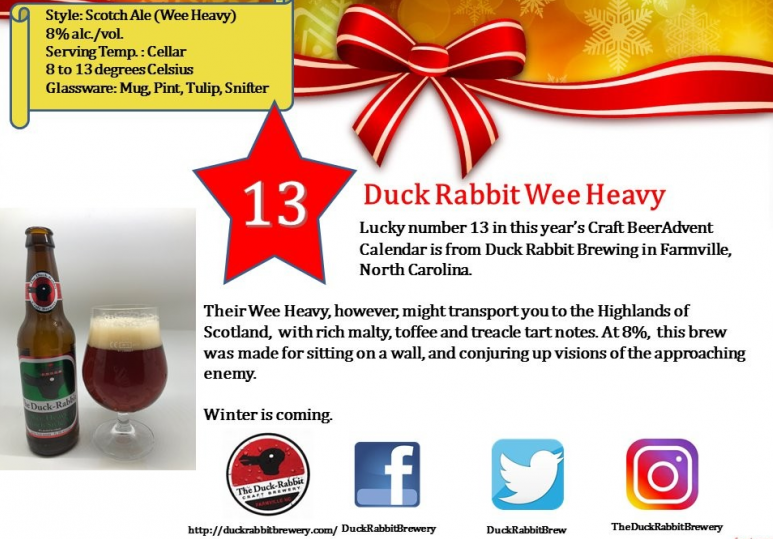Duck Rabbit Wee Heavy Scotch Ale