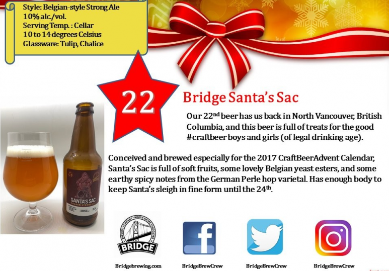 Day 22: Bridge Brewing Santas Sac