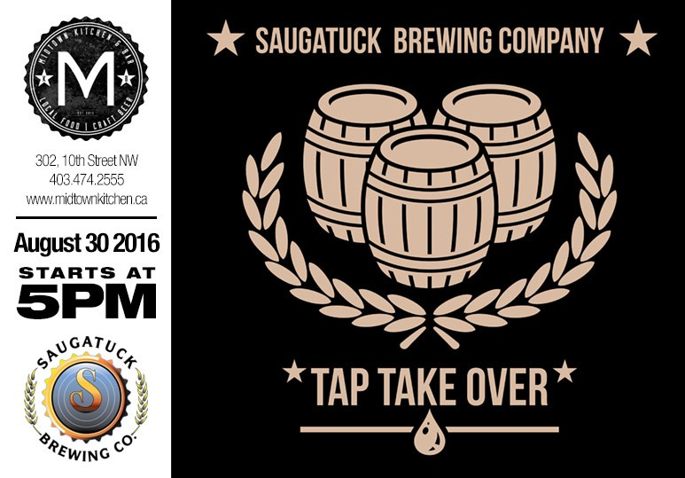 saugatuck brewing tap takeover calgary