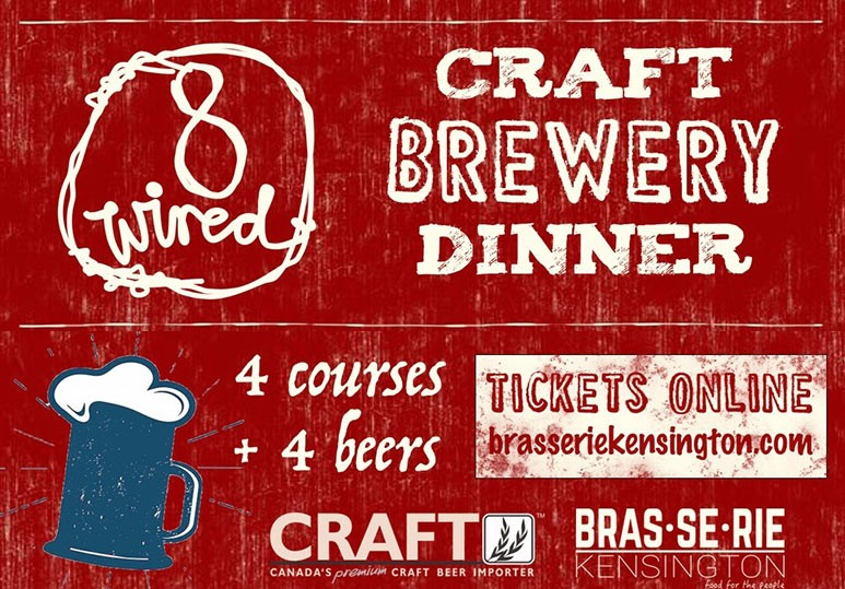 8 Wired Brewery Dinner