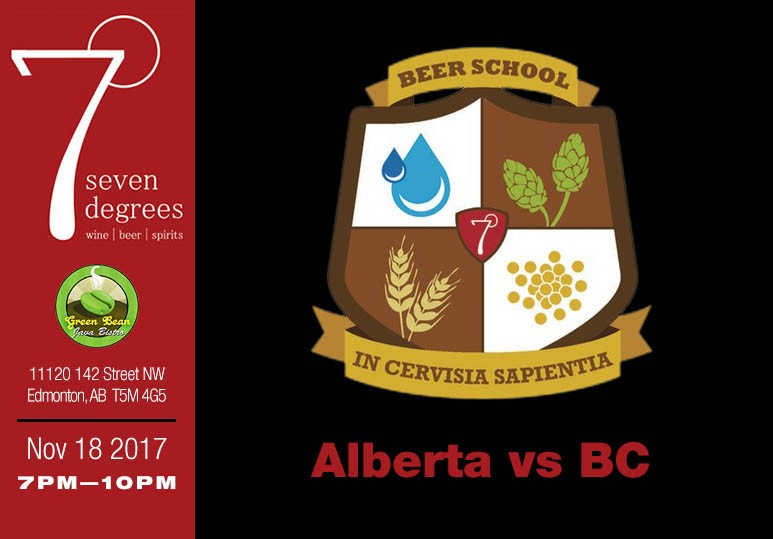 7degrees Beer School: Alberta Beer vs BC Beer